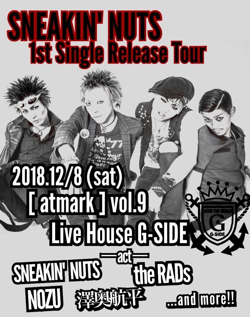 atmark vol.9 SNEAKIN' NUTS 1st Single Release Tour